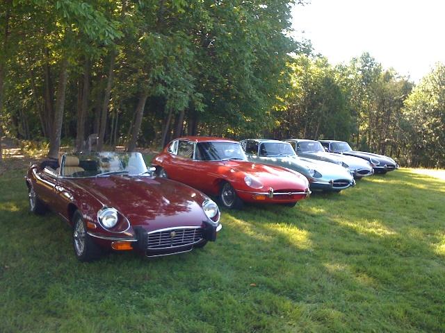 5 Jaguar E-Type à Ogden